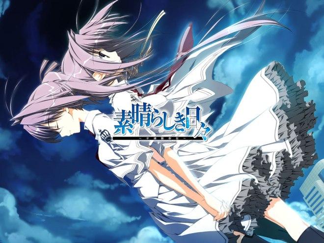 yande.re 111430 dress kagome keroq subarashiki_hibi thighhighs wakatsuki_kagami wakatsuki_tsukasa wallpaper yuri